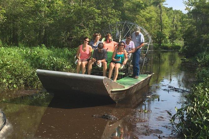 Excursión por la costa de Nueva Orleans: Tour combinado en hidrodeslizador de medio día de duración tras el crucero