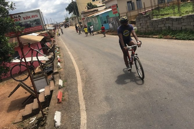 Bicycle Tour Through Aburi To Adom Waterfalls