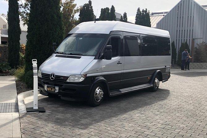 Private Napa wine tour 12 pax MBZ Sprinter limo 6 hours Napa pick up & drop off