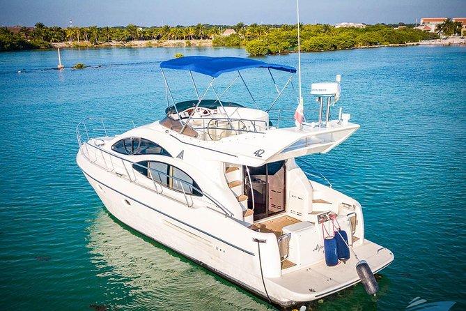 VIP 8-Hour Private 42' Azimut Yacht Tour to Tulum Sea w/Premium Bar & Chef