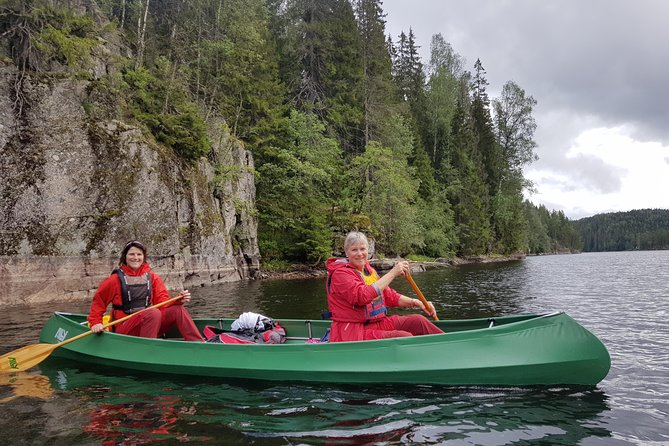 Paddling with wolves. Guided canoe day-tour. photo 12