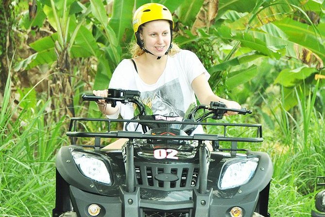 Bali Quad Bike with tour to visit Rice Terrace, Holy Water Temple and Waterfall