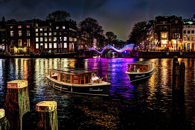 Private boat tour Amsterdam Light Festival