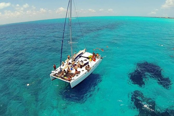 Catamaran Party on the Caribbean Sea of Cancun - Open bar Included