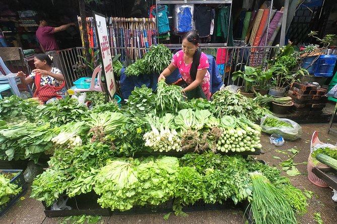A melhor excursão gastronômica e de trem em Yangon