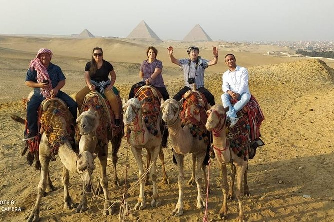 2 Hours a Camel ride at Sunset around the Pyramids, then the Sound & Light Show
