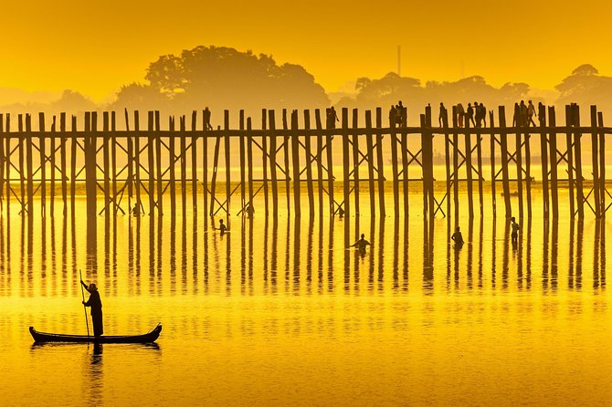 U Bein Bridge Sunset Cycling Day Tour from Mandalay