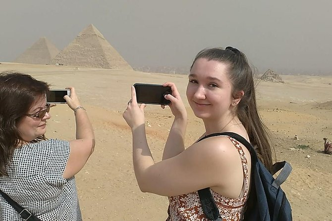 Giza pyramids tour from airport and drop off at airport