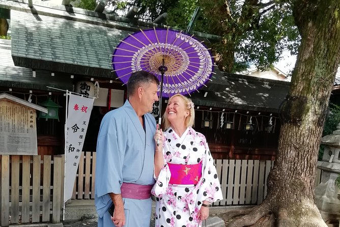 Get you dressed in Kimono and taste sake and go to the photo spot. photo 2