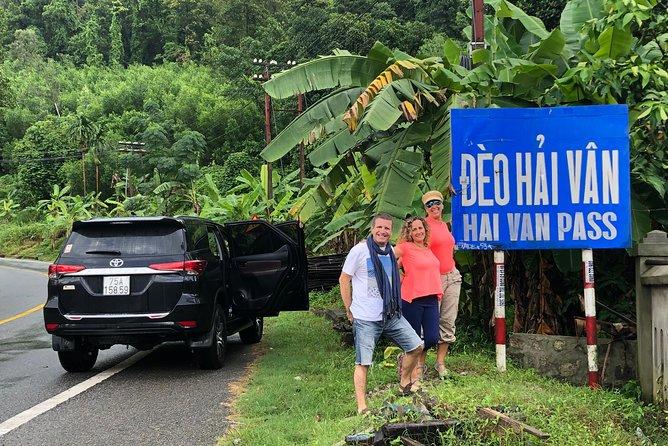 Hue To Da Nang Or Da Nang To Hue Via Hai Van Pass , Lang Co Beach, Lap An Lagoon