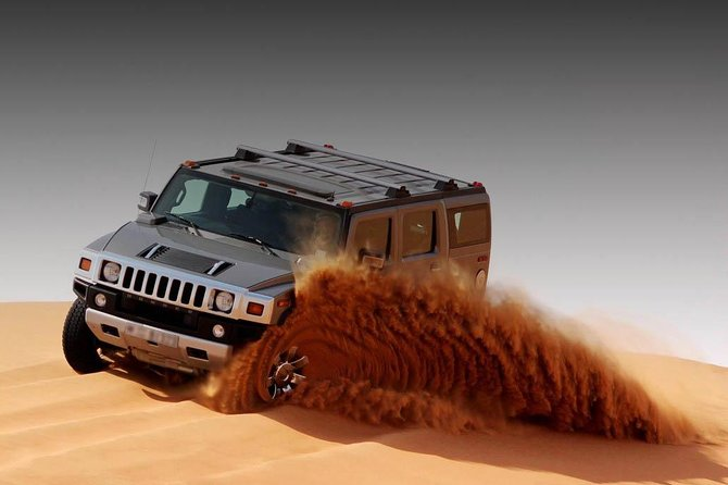 Private Hummer Desert Safari Abu Dhabi with Hot BBQ Dinner
