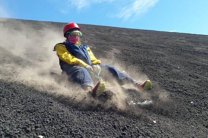 Feel the adrenaline Volcano Boarding!
