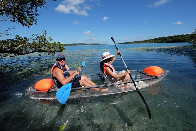 Bacalar sunrise experience in kayak