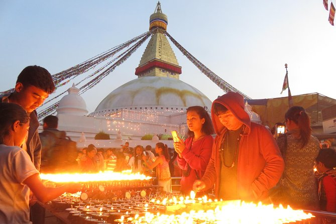 Boudhanath Pilgrims in Tibet of Kathmandu