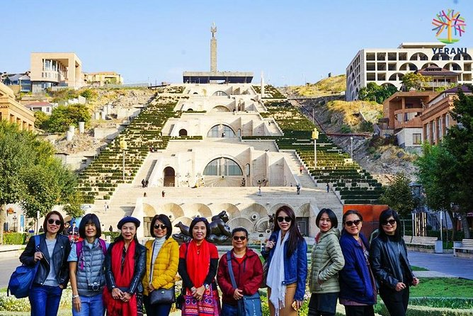 Yerevan city tour:Yerevan History museum,Brandy factory,Lunch, Megeryan Carpet,