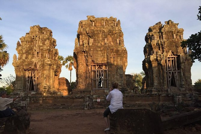 Sunset at Phnom Kraum, Siem Reap province