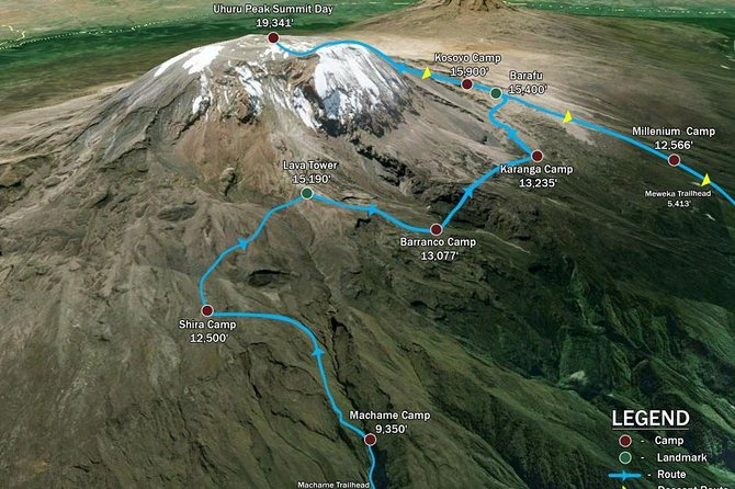 """KILIMANJARO MACHAME ROUTE, (Climb 7days) """"Whiskey"""" route"""