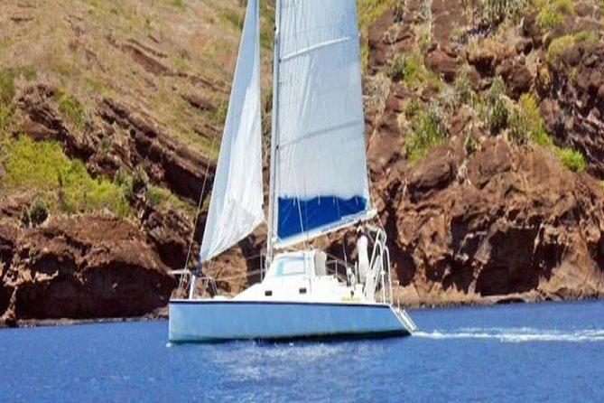 Catamaran near Coin de Mire Island