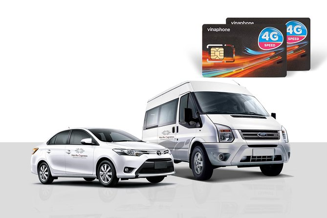 Private Airport Transfer & 4G Sim Card from Da Nang Airport to Hoi An City