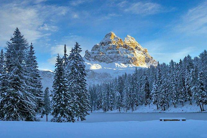 Snowshoe hike to the Three Peaks of Lavaredo