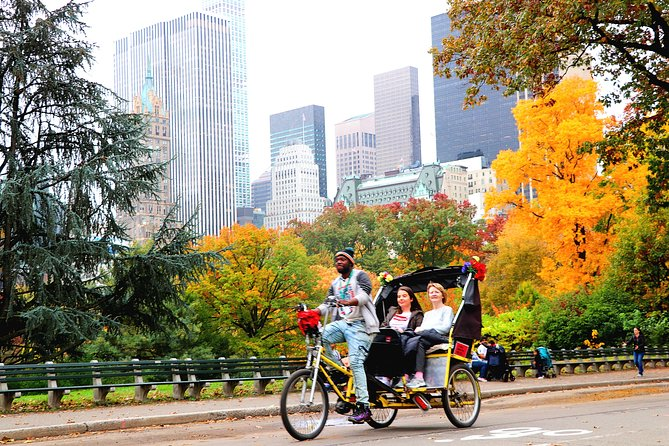 Pedicab Tour through Central Park, Rockefeller & Times Square
