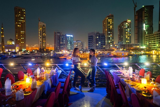 Dhow Cruise Dubai Marina with Hot Buffet Dinner