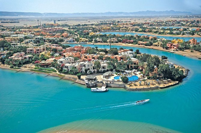 Trip to El Gouna lagoons with Snorkeling and Fishing