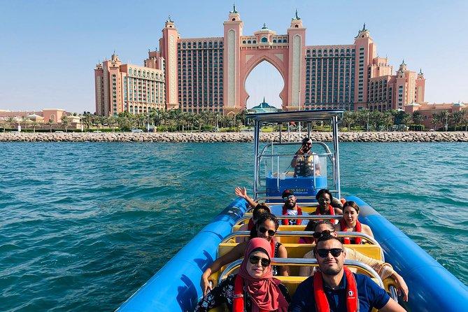 60min Dubai Speed Boat Tour: Burj Al Arab, Atlantis en Palm Jumeirah