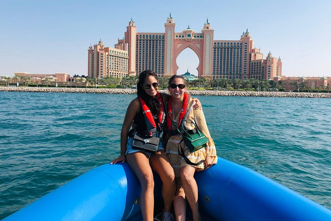 90min Dubai Speed Boat Tour: Burj Al Arab, Atlantis & Palm, Ain Wheel, JBR