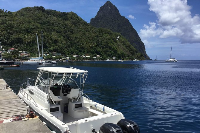 Private Boat to Soufriere/West Coast For Swimming Snorkeling & Beach Relaxation