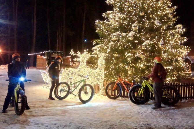 Night-time madness - Fat biking tour in Visaginas