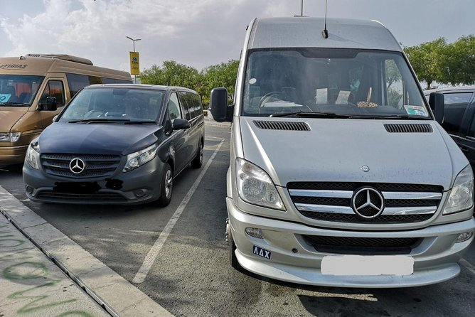 Minibus private transfer from LCA airport to and from Ayia Napa 1-16 travellers