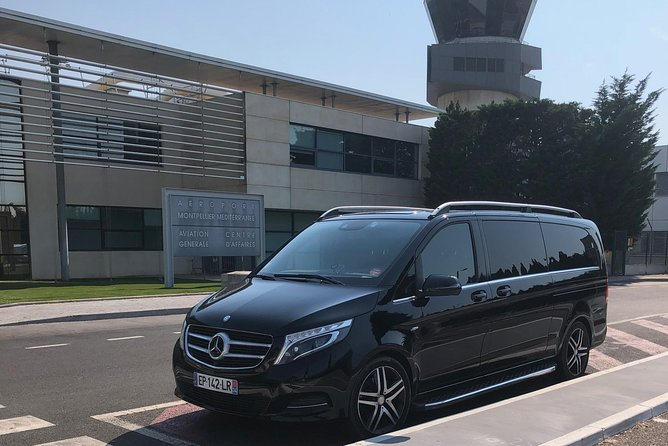 Mercedes minibus transfer from Montpellier Airport to Nice Airport