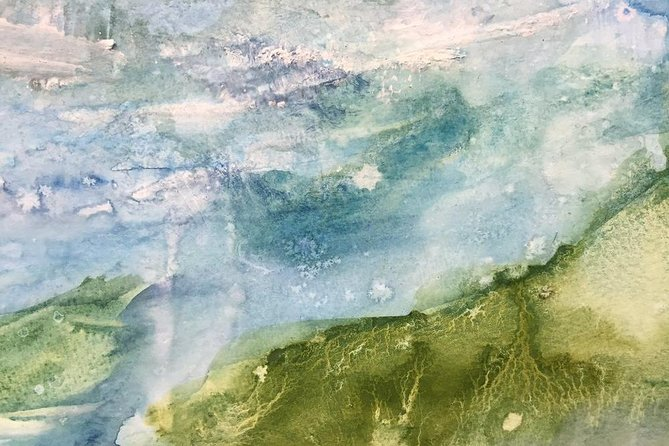Abstract Landscape Painting in Acrylics
