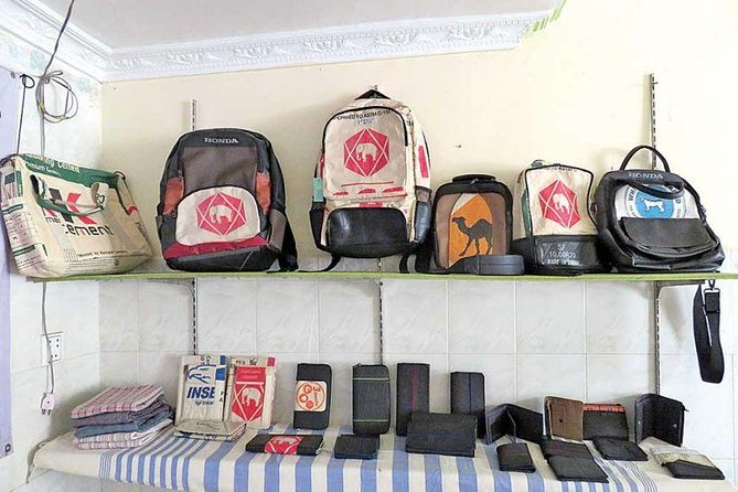 Tyre Bag Seamstress Experience; Turn Old Tyre to Fashion