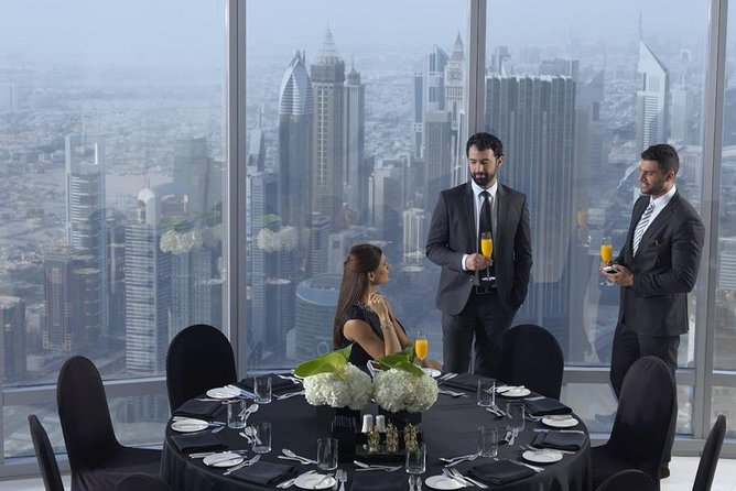 Burj Khalifa The Lounge Bubbly Sundowner with Private Transfers