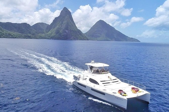 Private Luxury Catamaran Cruise in St. Lucia
