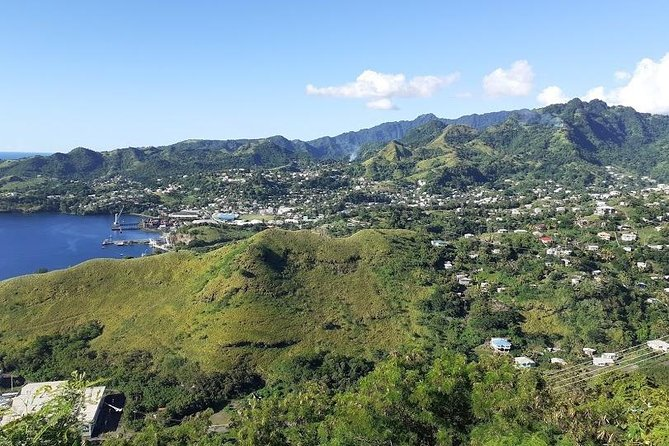 View from Fort Charlotte overlooking the Leeward side of the island of SVG.