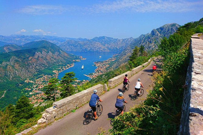 Cycling downhill serpentines from Njeguši to Kotor