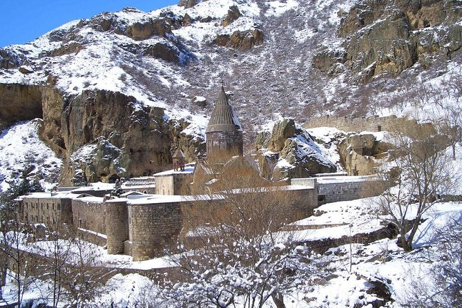 Daily winter jeep tour to Garni gorge and Geghard Monastery