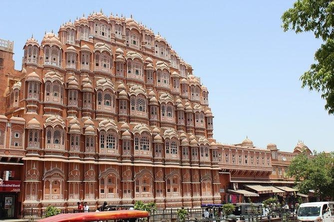 Excursion d'une journée à la ville rose de Jaipur avec déjeuner et promenade en chameau