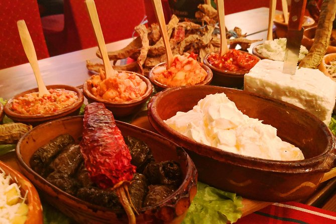 Macedonian authentic buffet lunch with traditional music