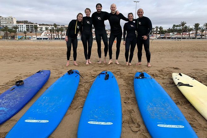 Surfing lesson at Agadir Beach