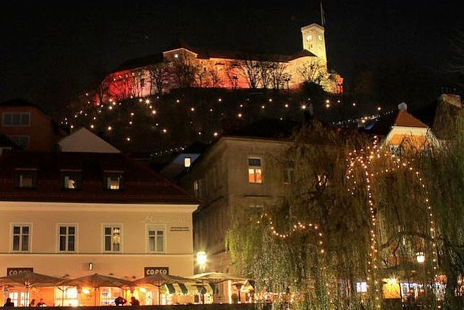 Night Tour To Ljubljana Castle With Electric Harley Scooter