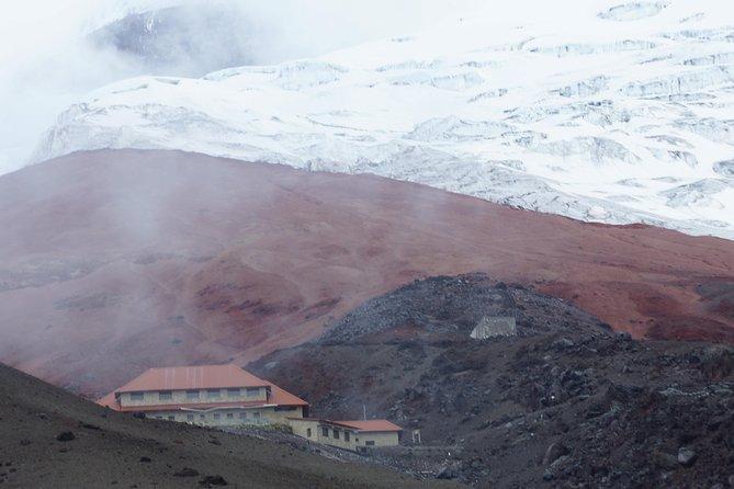 Ascent to Chimborazo, high mountain summit.