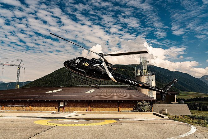 Helicopter tour over the Dolomites