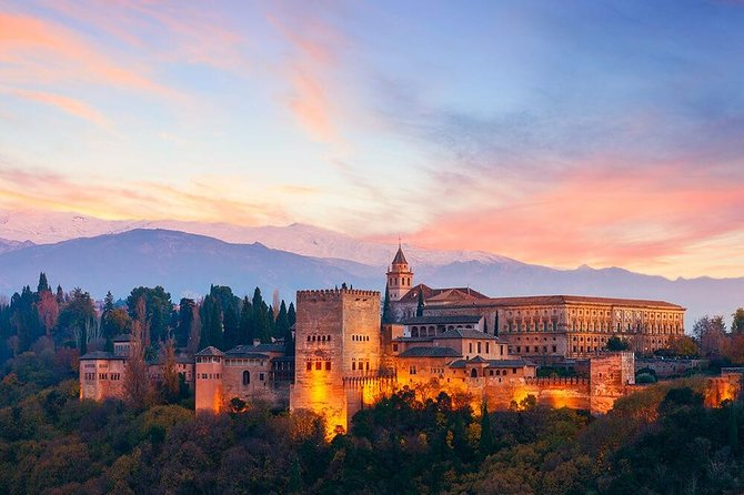 Tickets included: Alhambra Tour (Gardens, Alcazaba, Generalife) and downtown