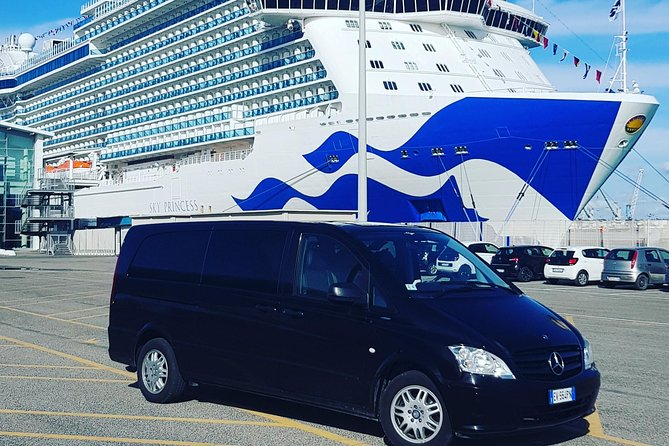 Transfers to the port of Civitavecchia at Fiumicino airport, Rome, hotel