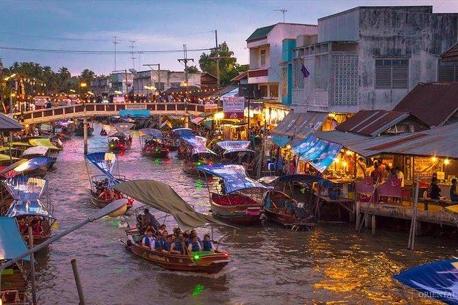 Discover Damnoen Saduak Floating Market & Train Market in Thailand