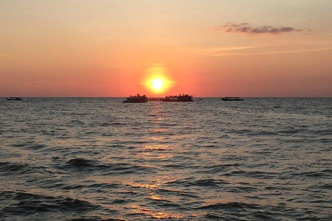 Kompong Pluk sunset Floating Village by Tuk Tuk